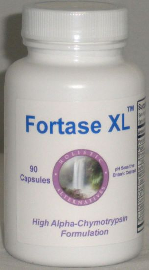 Picture of Fortase XL 90 enteric coated enzyme capsules